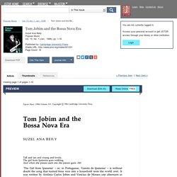 Tom Jobim and the Bossa Nova Era on JSTOR