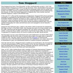 Tom Stoppard (1937 - )