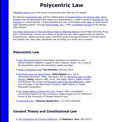 Tom W. Bell on Polycentric Law