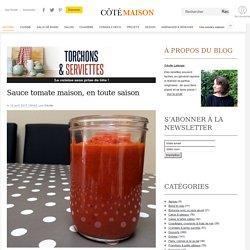 Sauce tomate maison, en toute saison