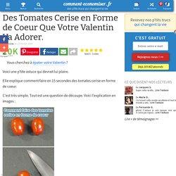 Tomates Cerise en Forme de Coeur