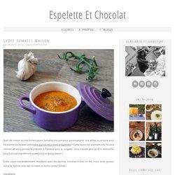 Sauce tomates maison - Espelette et Chocolat