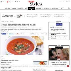 Recette Soupe de tomates aux haricots blancs