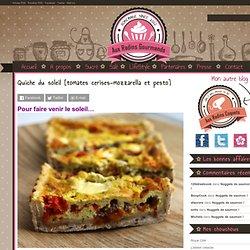 Quiche du soleil [tomates cerises-mozzarella et pesto] : Aux Radins Gourmands
