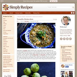 Tomatillo Chicken Stew Recipe
