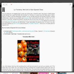 La Tomatina: Mini Unit to Start Spanish Class