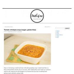 Tomato chickpea soup {vegan, gluten-free}