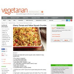Low-Cal Tomato and Squash Crumble