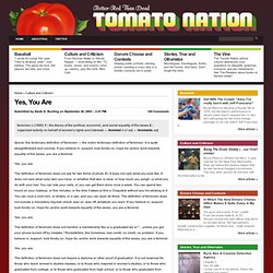 Tomato Nation » Yes, You Are