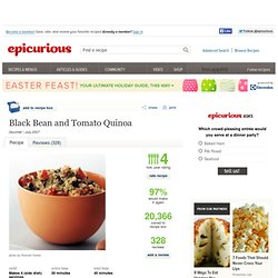 Black Bean and Tomato Quinoa Recipe at Epicurious