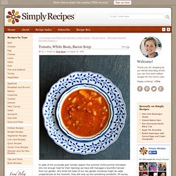 Tomato Soup with White Beans and Bacon Recipe