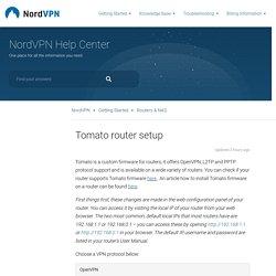 Tomato router setup – NordVPN