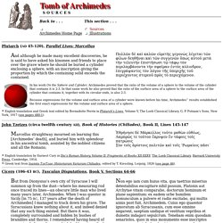 Tomb of Archimedes (Sources)