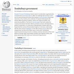 Tombalbaye government