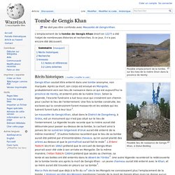 Tombe de Gengis Khan