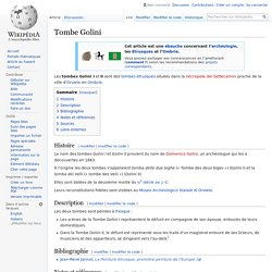 Tombe Golini