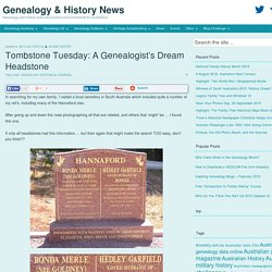 Tombstone Tuesday: A Genealogist's Dream Headstone