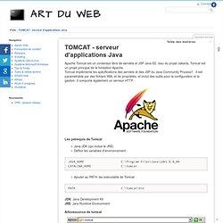 ART DU WEB - TOMCAT - serveur d'applications Java