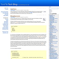 TomF's Tech Blog - It's only pretending to be a wiki.