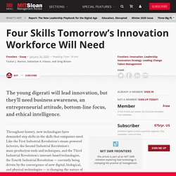 Four Skills Tomorrow's Innovation Workforce Will Need