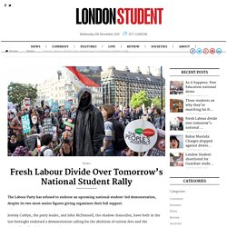 Fresh Labour divide over tomorrow's national student rally