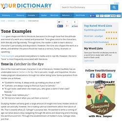 Tone Examples