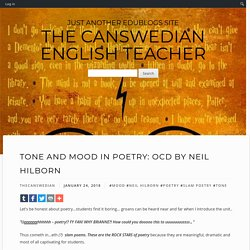 Tone and Mood in Poetry: OCD by Neil Hilborn