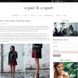 DIY TWO TONE TARTAN SKIRT