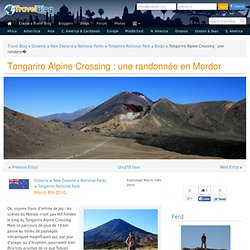 Tongariro Alpine Crossing : une randonnée en Mordor