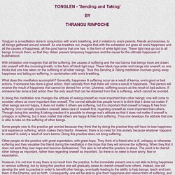 Tonglen - Taking and Sending Meditation, Thrangu Rinpoche