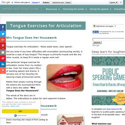 Tongue Exercises for Articulation