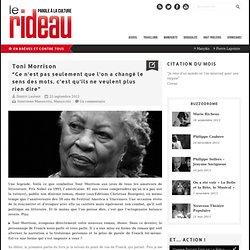 Toni Morrison - Le Rideau
