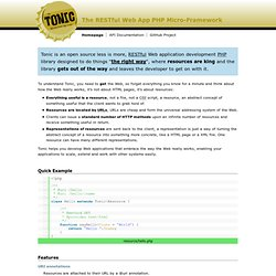 Tonic: A RESTful Web App Development PHP Library