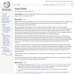 Tonie Walsh - Wikipedia
