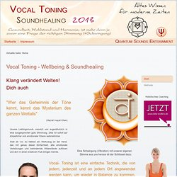 Start - Vocal Toning + + Wellbeing & Sound Healing + +