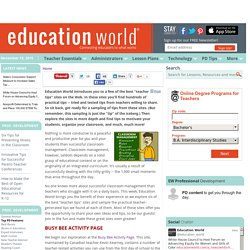 Five Great 'Teacher Tips' Sites on the Web