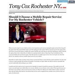 Tony Cox Rochester NY