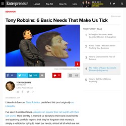 Tony Robbins: 6 Basic Needs That Make Us Tick
