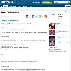 Tool - Curiosidades