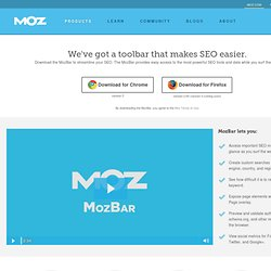 SEO Toolbar for Firefox & Chrome | Download the Free MozBar SEO Plugin