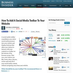 How To Add A Social Media Toolbar To Your Website