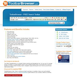 ToolbarBrowser - Toolbar Manager, free Custom Toolbar Builder