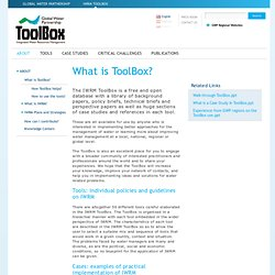 What is ToolBox? - ABOUT - TOOLBOX - Root