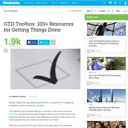 GTD Toolbox: 100+ Resources for Getting Things Done