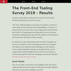 The Front-End Tooling Survey 2019 - Results - AshleyNolan.co.uk - Blog and Portfolio for Ashley Watson-Nolan