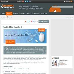 Toolkit: Adobe Presenter 10 by Joe Ganci