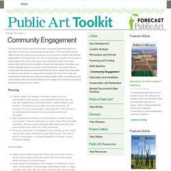 Public Art Toolkit: Community Engagement