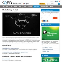 Media-Making Toolkit : KQED Education
