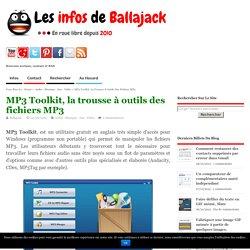 MP3 Toolkit, la trousse à outils des fichiers MP3