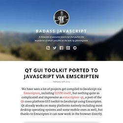 Qt GUI Toolkit Ported to JavaScript via Emscripten